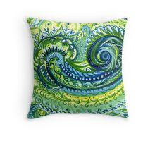 Paisley Watercolor Throw Pillow