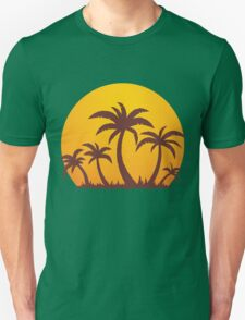 Palm Trees and Sun Unisex T-Shirt