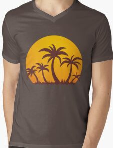 Palm Trees and Sun Mens V-Neck T-Shirt