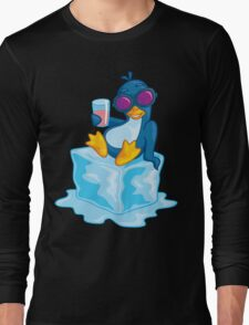 Penguin On Ice Long Sleeve T-Shirt