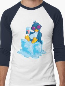 Penguin On Ice Men's Baseball ¾ T-Shirt