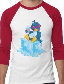 Penguin On Ice Men's Baseball ¾ T-Shirt