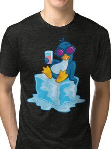 Penguin On Ice Tri-blend T-Shirt