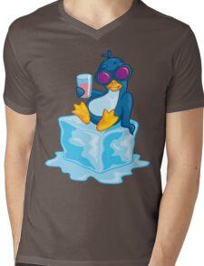 Penguin On Ice Mens V-Neck T-Shirt