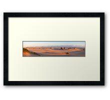Dunes at sunset 2 Framed Print