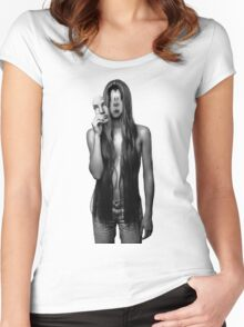 Models are goofy looking... Women's Fitted Scoop T-Shirt