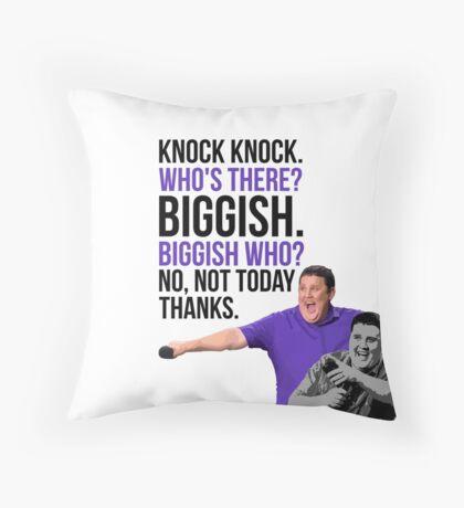 Peter Kay - The Tour That Didn't Tour Tour - Knock Knock Joke Throw Pillow