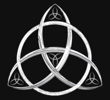 White Trinity Celtic Knot by Packrat