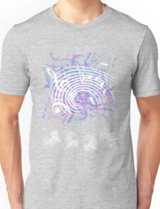 White Music Notes Unisex T-Shirt
