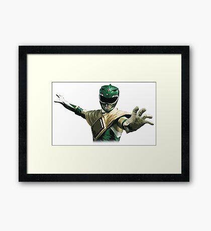 Might Morphin Power Rangers - Green Ranger Framed Print