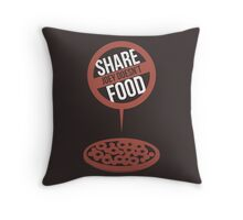 Joey Doesn't Share Food! - Friends Throw Pillow