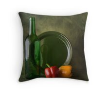 STILL LIFE WITH BELL PEPPERS Throw Pillow
