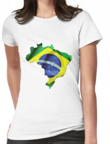 Brazil Flag Country Womens Fitted T-Shirt