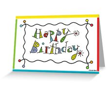 Sparkling Birthday - card Greeting Card