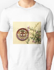 Crowned Pretzel Sign and Roses T-Shirt