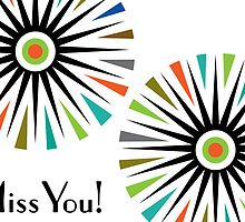 Starburst -  Miss You - Card by Andi Bird