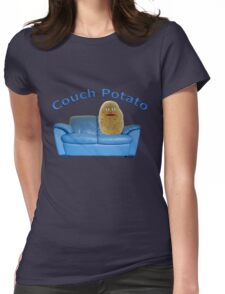 Couch Potato Character Womens Fitted T-Shirt