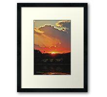 Majestic Sunset Framed Print