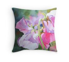 Pretty Peas Throw Pillow