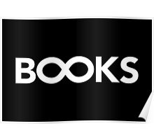 B∞ ks // Books with Infinity symbol Poster