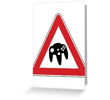 Retro Games Traffic Greeting Card