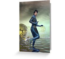 Venture Accross the Alien Lake Pods Greeting Card