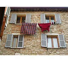 Who in Perugia needs a tumble-drier? Photographic Print