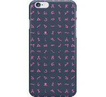 Chevron symbols texture in Pink and dark Blue iPhone Case/Skin