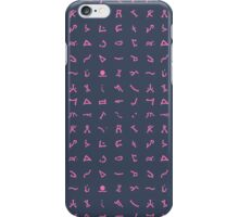 Chevron symbols texture in Pink and dark Blue iPhone Case/Skin