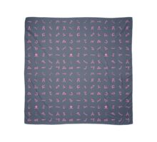 Chevron symbols texture in Pink and dark Blue Scarf