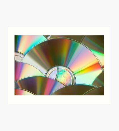 Rainbow CDs Art Print
