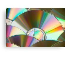 Rainbow CDs Canvas Print