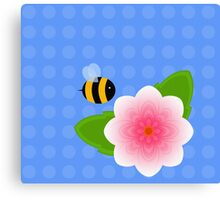 Bumble Blossom Canvas Print