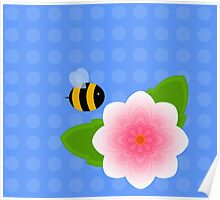 Bumble Blossom Poster