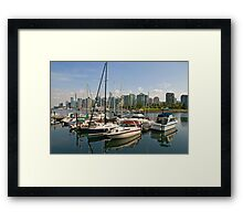 Coal Harbour, Vancouver, Canada Framed Print