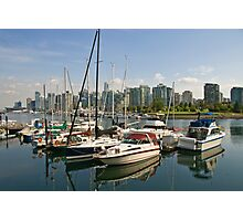 Coal Harbour, Vancouver, Canada Photographic Print