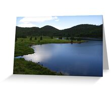 Blue Radiance, Rosemont Reservoir, CO 2009 Greeting Card