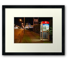 Is anyone there? Framed Print