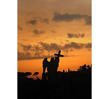 Angel with the Cross Wreathed in Fire Photographic Print