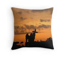 Angel with the Cross Wreathed in Fire Throw Pillow