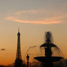 Eiffel Tower & Fountain at Sunset by Jason Bran-Cinaed