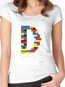 """D"" Women's Fitted Scoop T-Shirt"