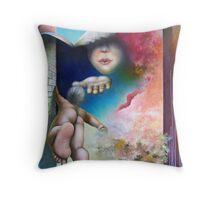 Online Kiss Throw Pillow