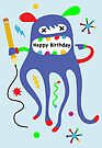 Birthday Doodler ll  - Card  by Andi Bird