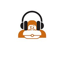 Monkey music headphones by Nooverthinking