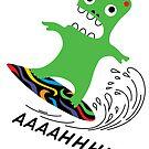 Critter Surf  ll - card by Andi Bird