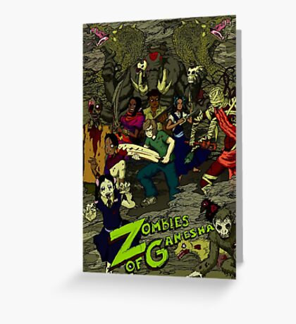 Zombies of Ganesha Greeting Card