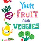Eat Your Fruit &amp; Veggies ll - card by Andi Bird
