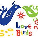 Love Birds  ll - card  by Andi Bird