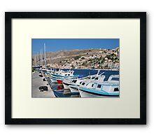 Yialos harbour on Symi Framed Print